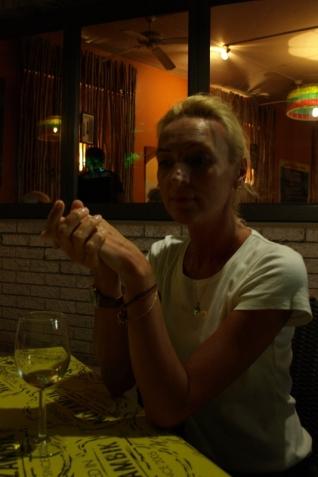 Restauracja Mozambique - po posiłku przy winku...