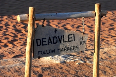 Rano udajemy się do wysuszonego bagna Deadvlei.