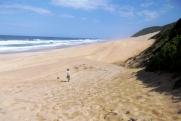 Niebiańska Plaża - oprócz nas na plaży nie ma prawie nikogo...