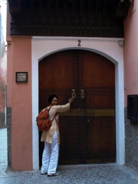Marrakesh - typowe drzwi riadu