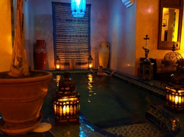 Marrakesh - basen w naszym riad