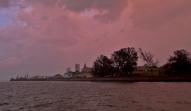 Panorama Maputo po burzy